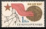 Stamps Czechoslovakia -  Czechoslovakian Communist Party, 60th Anniv.