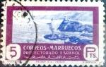 sello : Europa : España : Intercambio 0,25 usd 5 ptas. 1950
