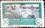 sello : Europa : España : Intercambio 0,20 usd 50 cents. 1950