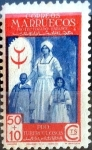sello : Europa : España : Intercambio 0,30 usd 50 + 10 cents. 1947