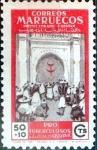 sello : Europa : España : Intercambio 0,35 usd 50 + 10 cents. 1950