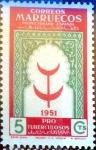 sello : Europa : España : Intercambio 0,20 usd 5 cents. 1951