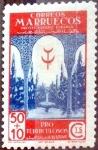 sello : Europa : España : Intercambio 0,30 usd 50 + 10 cents. 1946