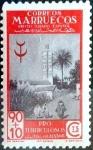 sello : Europa : España : Intercambio 0,75 usd 90 + 10 cents. 1946