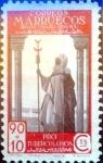 sello : Europa : España : Intercambio 0,75 usd 90 + 10 cents. 1947