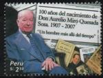 Stamps Peru -  CENTENARIO  DEL  NATALICIO  DE  DON  AURELIO  MIRÓ  QUESADA