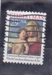 Stamps United States -  La Virgen y el Niño-Navidad