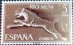 Stamps Spain -  Intercambio 4,50 usd 5,00 ptas. 1964