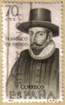 Sellos de Europa - España -  Francisco de Toledo