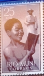 Stamps of the world : Spain :  Intercambio 0,20 usd 25 cents. 1960