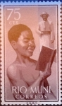 Stamps of the world : Spain :  Intercambio 0,20 usd 75 cents. 1960