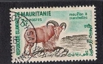 Sellos del Mundo : Africa : Mauritania : mounflon a manchettes