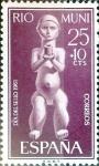 Sellos de Europa - España -  Intercambio 0,25 usd 25 + 10 cents. 1961
