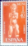 Stamps of the world : Spain :  Intercambio 0,25 usd 1,00 + 0,10 ptas. 1961