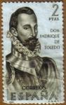 Sellos de Europa - España -  Don Fadrique de Toledo - Forjadores de America