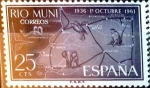 Stamps Spain -  Intercambio fd3a 0,25 usd 25 cents. 1961