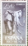 Stamps Spain -  Intercambio 0,25 usd 25  10 cents. 1961