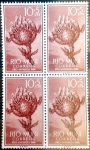 Sellos del Mundo : Europa : España : Intercambio 1,00 usd 4 x 10 + 5 cents. 1960