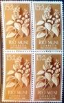 Sellos del Mundo : Europa : España : Intercambio 1,00 usd 4 x 15 + 5 cents. 1960