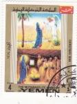 Sellos de Asia - Yemen -  Navidad-69 adoración del Niño