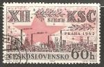 Sellos de Europa - Checoslovaquia -  12th Congreso del Partido Comunista de Checoslovaquia