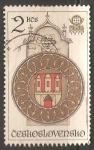 Sellos de Europa - Checoslovaquia -  Reloj de la Torre de Praga