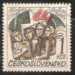 Sellos de Europa - Checoslovaquia -  Destruccion de 14 ciudades por los nazis