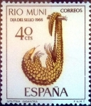 Stamps : Europe : Spain :  Intercambio 0,25 usd 40 cents. 1966