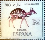 Stamps of the world : Spain :  Intercambio 0,25 usd 1,25 ptas. 1966
