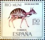 Stamps Spain -  Intercambio cryf 0,25 usd 1,25 ptas. 1966