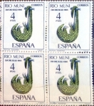 Stamps of the world : Spain :  Intercambio 1,00 usd 4 x 4 ptas. 1966