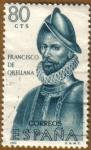 sellos de Europa - España -  Francisco de Orellana - Forjadores de America