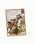 Stamps Africa - Equatorial Guinea -  Dom QUIJOTE pelea com el VIZCAINO