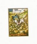 sellos de Africa - Guinea Ecuatorial -  Dom QUIJOTE Lucha comtra los ejercitos
