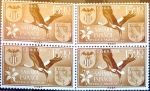 Stamps Spain -  Intercambio 1,00 usd 4 x 15 + 10 cents. 1958