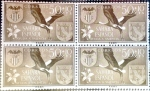 Stamps Spain -  Intercambio 1,00 usd 4 x 50+ 10 cents. 1958