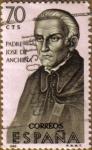 Stamps Spain -  Padre Jose de Anchieta - Forjadores de America