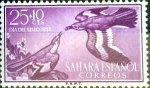 Stamps : Europe : Spain :  Intercambio mxb 0,20 usd 25 + 10 cents. 1958