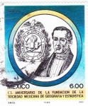 Stamps Mexico -  CL aniversario fundación sociedad mexicana de geografía y estadísticas