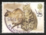 Stamps United Kingdom -  Gatos