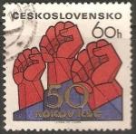 Sellos del Mundo : Europa : Checoslovaquia : 50 aniversario del Partido Comunista Checo