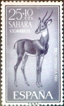 Stamps Spain -  Intercambio 0,25 usd 25 + 10 cents. 1961