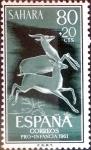 Sellos de Europa - España -  Intercambio 0,35 usd 80 + 20 cents. 1961