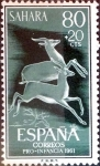 Stamps of the world : Spain :  Intercambio 0,35 usd 80 + 20 cents. 1961