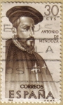 Stamps Spain -  Antonio de Mendoza - Forjadores de America