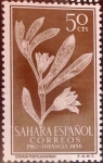 Stamps : Europe : Spain :  Intercambio fd4a 0,35 usd 50 cents. 1956