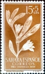 Stamps Spain -  Intercambio m1b 0,25 usd 15 + 5 cents. 1956