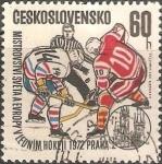 Stamps Czechoslovakia -  Campeonato mundial de hockey hielo
