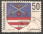 Stamps Czechoslovakia -  Escudo de armas de Kežmarok