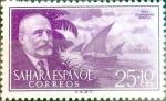 Sellos de Europa - España -  Intercambio 0,25 usd  25 + 10 cents. 1955